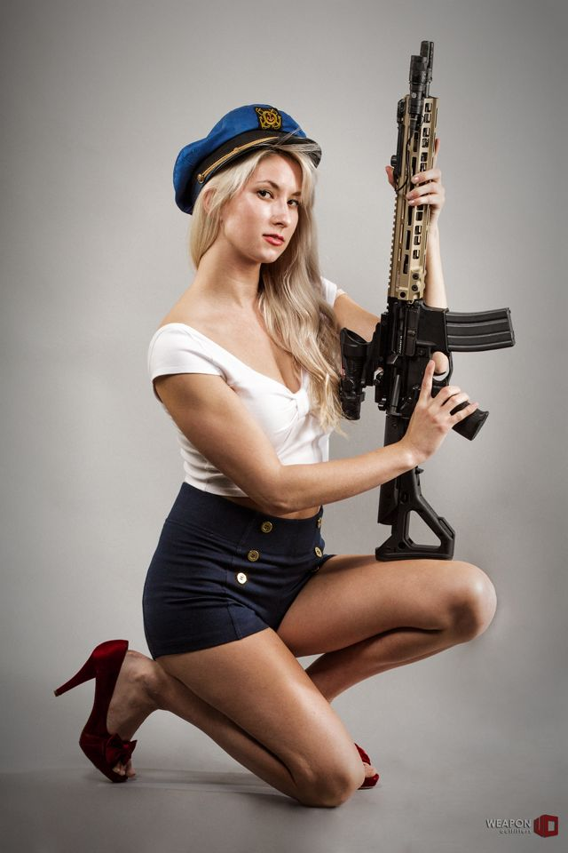 Bethyplswanted to do a pinup shoot again… so I said, sure, why not!Geissele Automatics, LLCMk8 SMR in Desert Dirt Colorhttp://www.weaponoutfitters.com/geissele-super-modular-rail-smr-mk8.htmlMagpul Industries Corp.UBR Stock Kit:http://www.weaponoutfitters.com/magpul-ubr-stock.htmlMacedon DefenseUpgrade for all Trijicon ACOGs:http://www.weaponoutfitters.com/macedon-defense-kram-optics-spacer.htmlSureFire, LLCM300V, white light and IR illumination capable mini scout light. Super ...