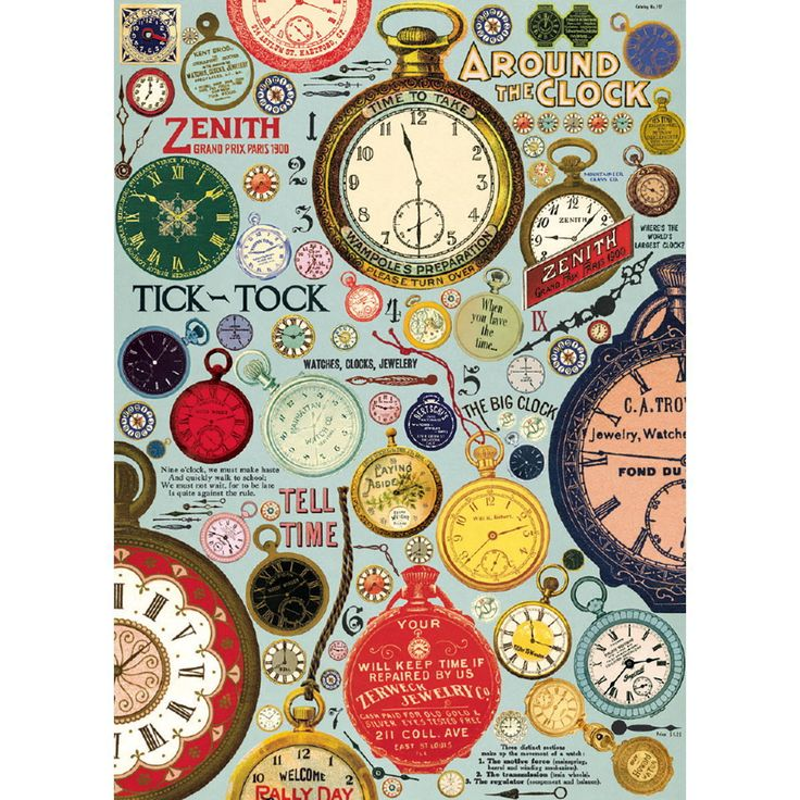 Stopwatch Clock Advertisements Wrapping Paper Sheet Vintage Style Ephemera | eBay