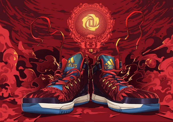 adidas D Rose 6 Year of the Monkey Illustration