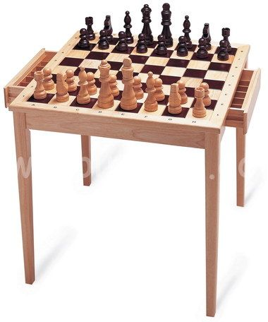 Chess Table With Drawers