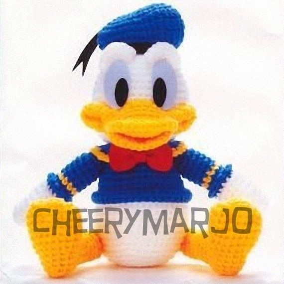 Crochet doll amigurumi PDF pattern  Donald Duck
