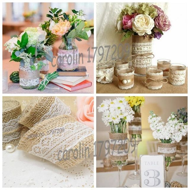 23 best casamiento images on pinterest mariage jute and hessian cheap hessian ribbon buy quality jute burlap directly from china vintage wedding decoration suppliers natural jute burlap hessian ribbon with lace rustic junglespirit Image collections