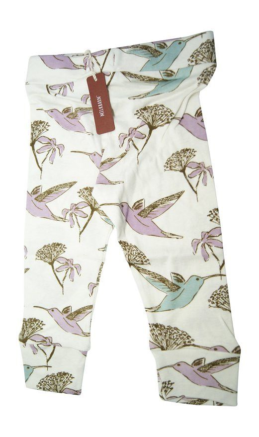 Made with GOTS certified Organic Cotton. Elastic waist. Imported. Available in 3/6M, 6/12M & 12/18M