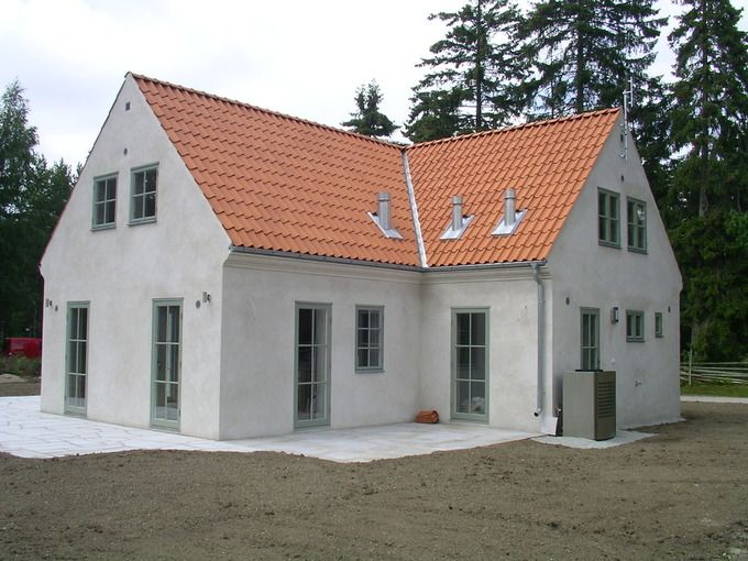 white Gotlands house