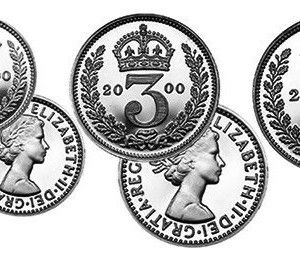 The Queen Elizabeth II 2000 Millennium Year Set of Maundy Coins