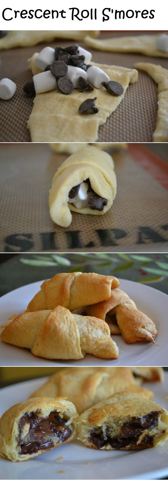 Crescent Roll S'mores... Omg I know what I'm making this weekend.