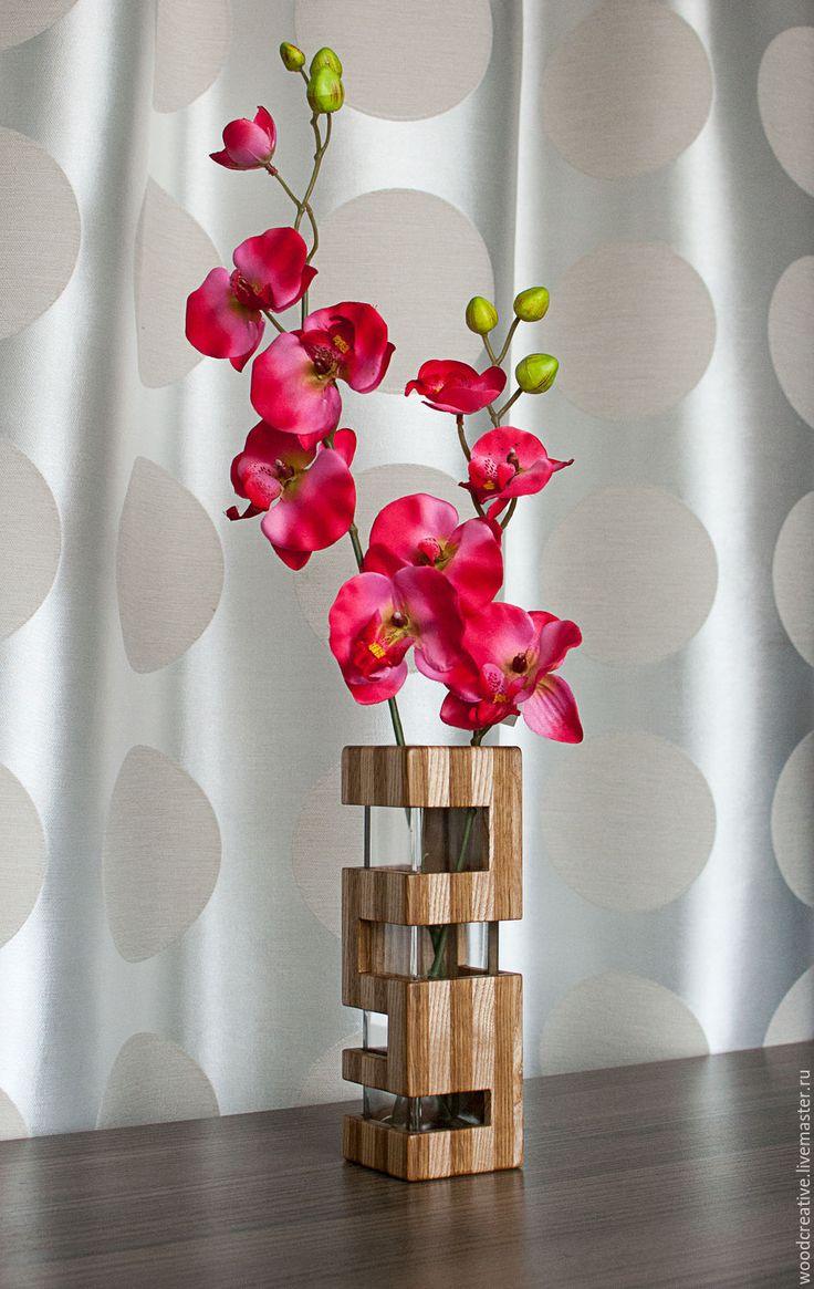 Wooden vase   Купить Ваза интерьерная - коричневый, деревянная ваза, ваза деревянная, интерьерная ваза, ваза для цветов