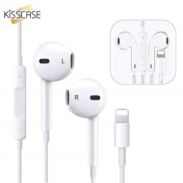 Official Original Earphone For Iphone 7 8 Plus X In Ear Stereo Wired Earphones With Microphone For Iphone Sport Earbud Earph Earbud Headphones Earbuds Earphone