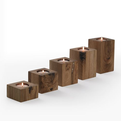 Block Candle Holders | Wooden Candle Holders | Simply Tabletop UK