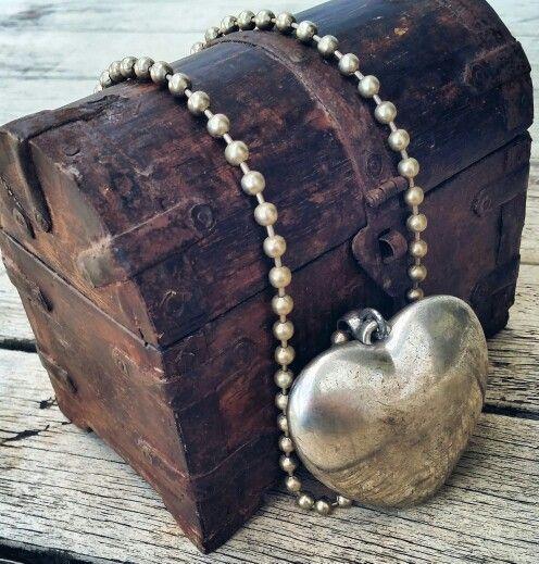 Cute little rustic pirate treasure box / keepsake box