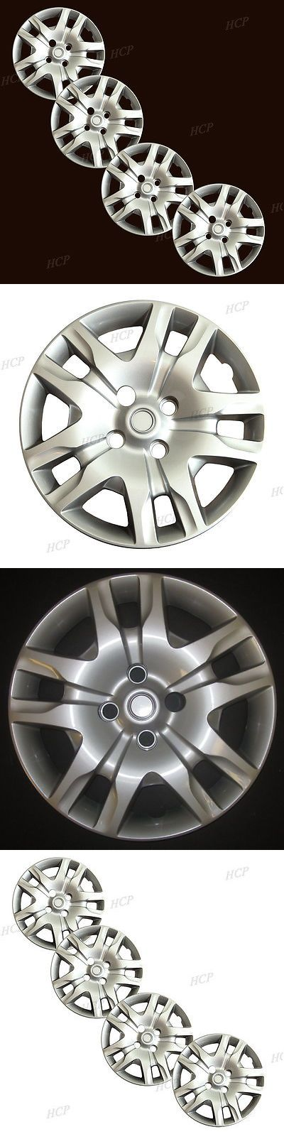 auto parts - general: New 16 Silver Hubcaps Wheel Rim Covers Fits 2007-2012 Nissan Sentra Set Of 4 BUY IT NOW ONLY: $41.31