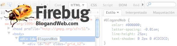 Modificar plantillas Blogger y WordPress facilmente con Firebug