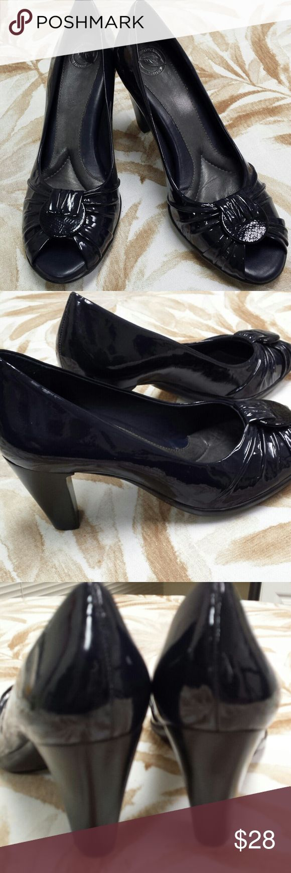 Nurture Navy Patent Peep Toe Heels Nurture Navy Patent Peep Toe Heels. Great condition and wicked comfy. A must have if you need classier shies for work. Nurture Shoes Heels