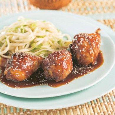 Pilons de poulet, sauce Général Tao - Soupers de semaine - Recettes 5-15 - Recettes express 5/15 - Pratico Pratique