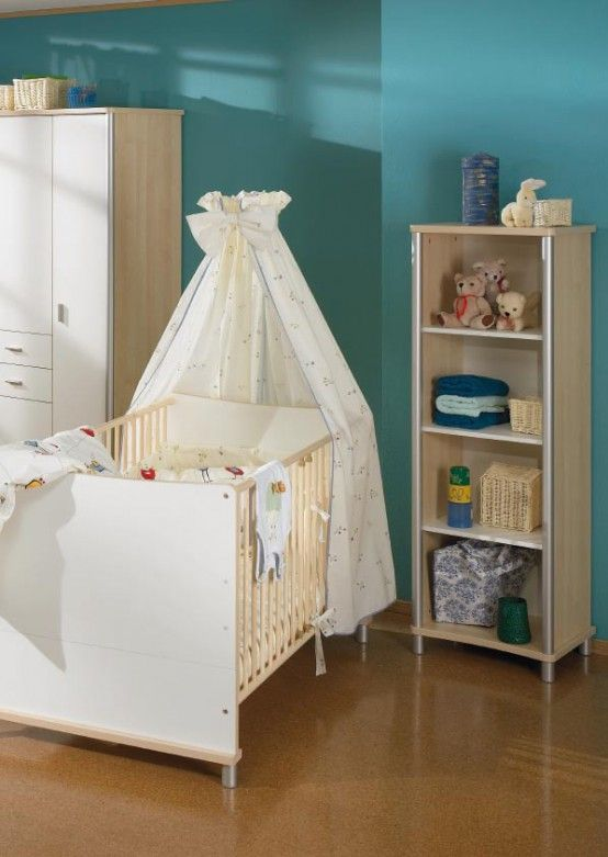 Baby Room Decor Ideas from Paidi. I love the curtain over the bed ...