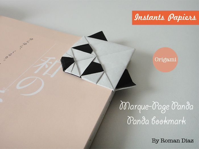 origami facile origami panda bookmark marque page origami washi tape et origami pinterest. Black Bedroom Furniture Sets. Home Design Ideas