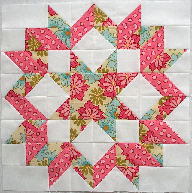Carpenter Star for Cherie by freshlypieced, via Flickr (also called snow crystals?)