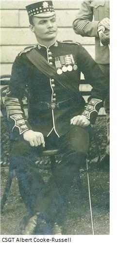 Colour Sergeant (Later Major, DCM) Albert Cooke-Russell, Scots Guards, Boer War Period