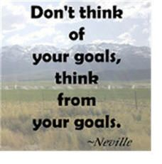 Think from your goals so you will act on them!// Something to ACT on!