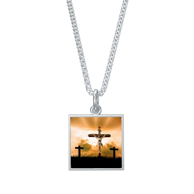 "Stunning Easter Inspired Religious Tile Pendant 30"" Chain Order Here https://goo.gl/Vbx7cL  #silver #style #jewellery #charms #bracelets #fashionaddict #jewellerysets #afterpay #cute #birthdaygift"