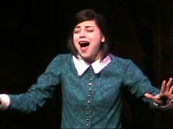 krysta rodriguez as wednesday in the addam's family. i just love her voice!!