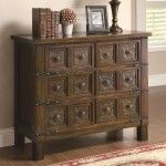 Coaster Furniture - Rustic Brown Accent Cabinet with 6 Drawers - 950104