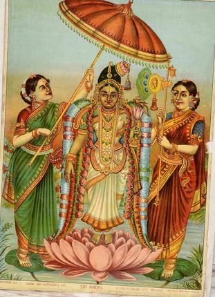 "The Mystic Bride - ""Wedding rituals have remained unchanged since Andal's time, and how… Andal was so special to Lord Ranganatha that people gave her the name 'Andal,' the one who ruled over the Lord of Bhooloka Vaikundam or Srirangam. Her story is a fine example of bridal mysticism""!  Read more here: http://www.thehindu.com/features/friday-review/history-and-culture/the-mystic-bride/article5003195.ece"