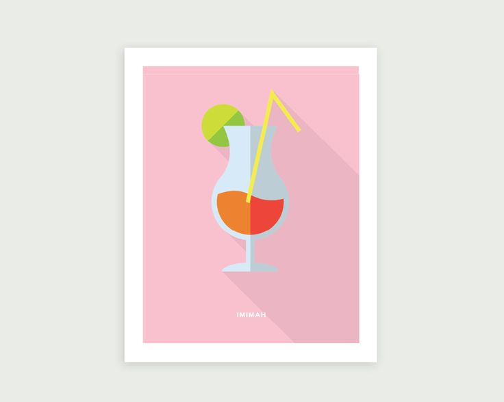 Imimah Campari Sunset Print  Twilight is the most magical time after a long summers day, make the most of it with our Campari Sunset print.  Our posters are printed on museum-quality thick, durable, matte paper that is acid free.  18x24 = $48