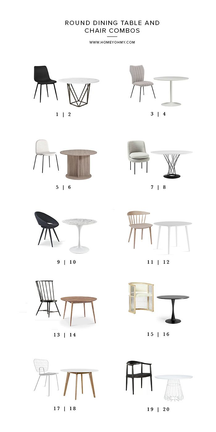 Round Dining Table And Chair Combos Dining Room Industrial