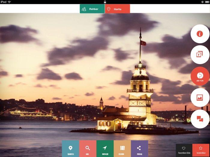 Beautiful navigation on full screen image