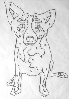 blue dog coloring sheet - LOVE our blue dogs! Musings of an Artists Wife: Counting on Art (and Painting by Numbers)