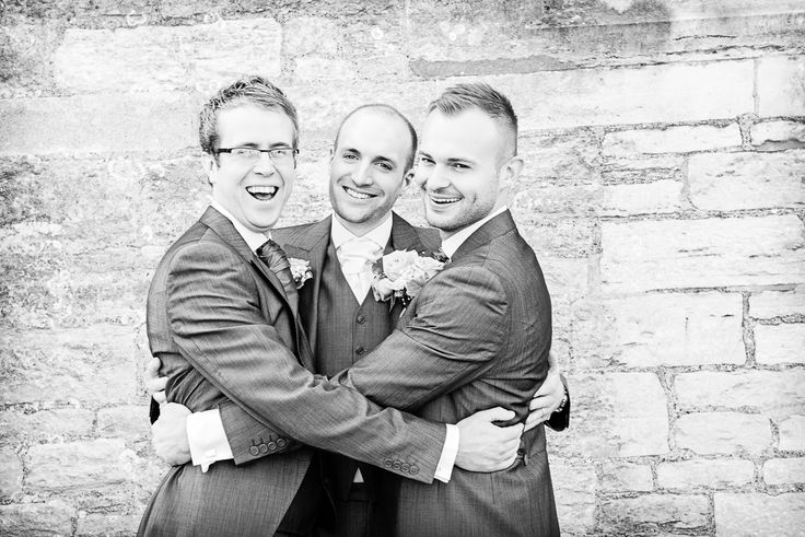 Dan and his Best Men. Photography by one thousand words wedding photographers www.onethousandwords.co.uk