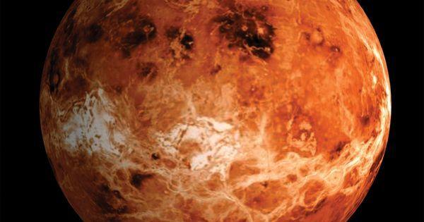 Planète Vénus. 2ème planète en partant du Soleil. Pas de satellite. Diamètre à 95% celui de la Terre. Atmosphère 965% Dioxyde carbone  35% Azote. Nuages de Dioxyde soufre  Acide sulfurique  Cristaux glace. Surface 465. Pression 91 fois celle sur Terre.