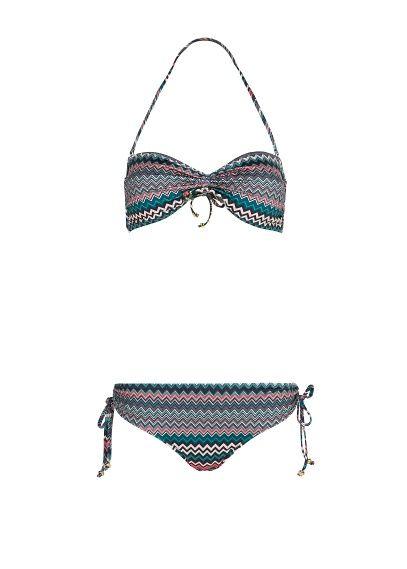 MANGO - TOUCH - Bandeau bikini met zigzag print van Guillermina Baeza