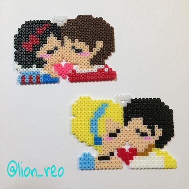 Disney Princess - love perler beads by lion_reo