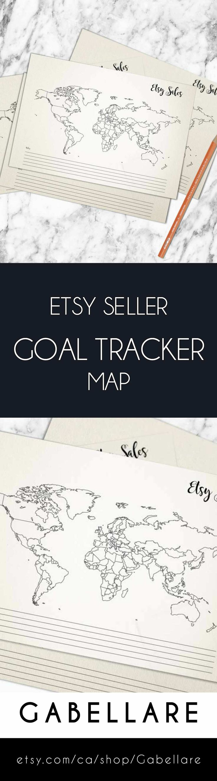 Gabellare   Are you ready to increase revenue?.  To track your sales is a vital ingredient for the success of your Etsy store, and our world map helps you collect your data in an easy way. To track goals is the only way to truly capture whether your marketing process is delivering the results you want.