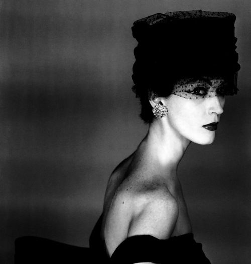nothingpersonaluk:  Dovima hat : Svend for Madeleine de Rauch Paris : French Vogue 1956  IN FOCUS | VINTAGE