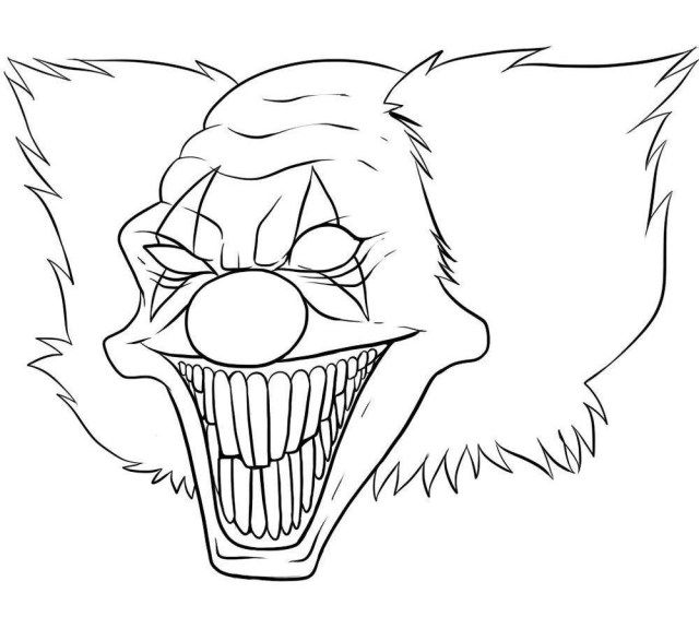 25 Best Photo Of Scary Coloring Pages Albanysinsanity Com Scary Clown Drawing Scary Drawings Scary Clowns
