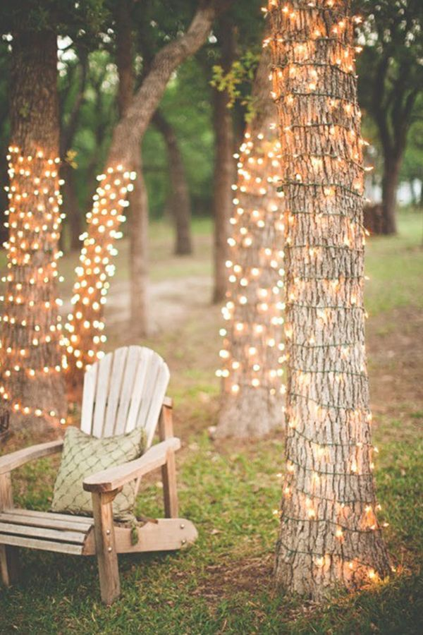 simple fairy lights make everything beautiful-- there better be lots of pretty white loss :)