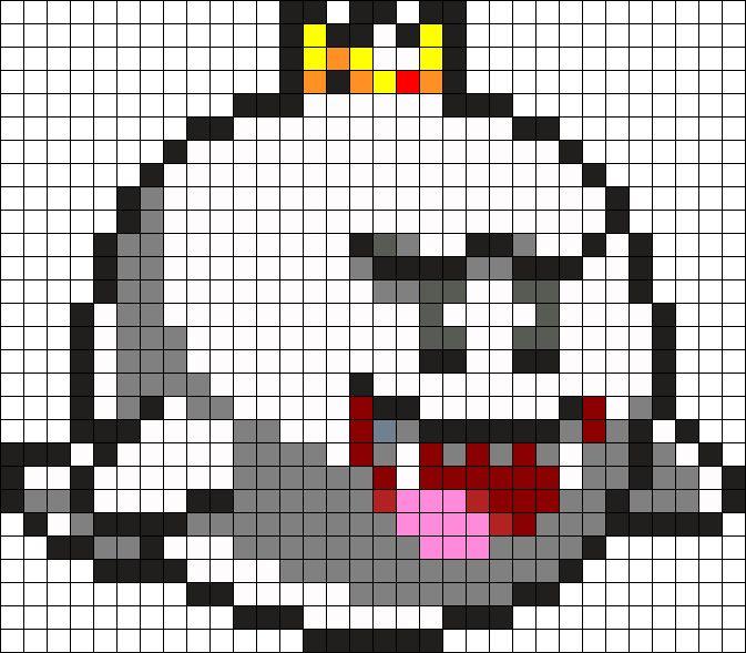 King Boo Perler Bead Pattern