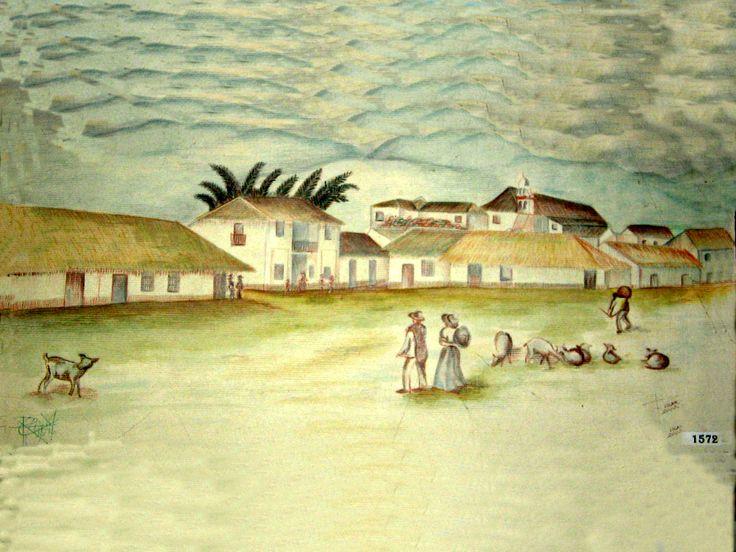 Un pueblo durante la colonia