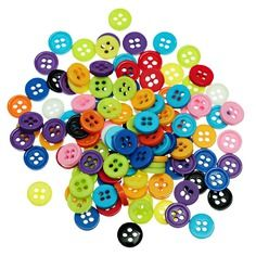 Vite !   500  boutons  9 mm  4 trous resine  divers coloris couture,mercerie,broderie,patchwork