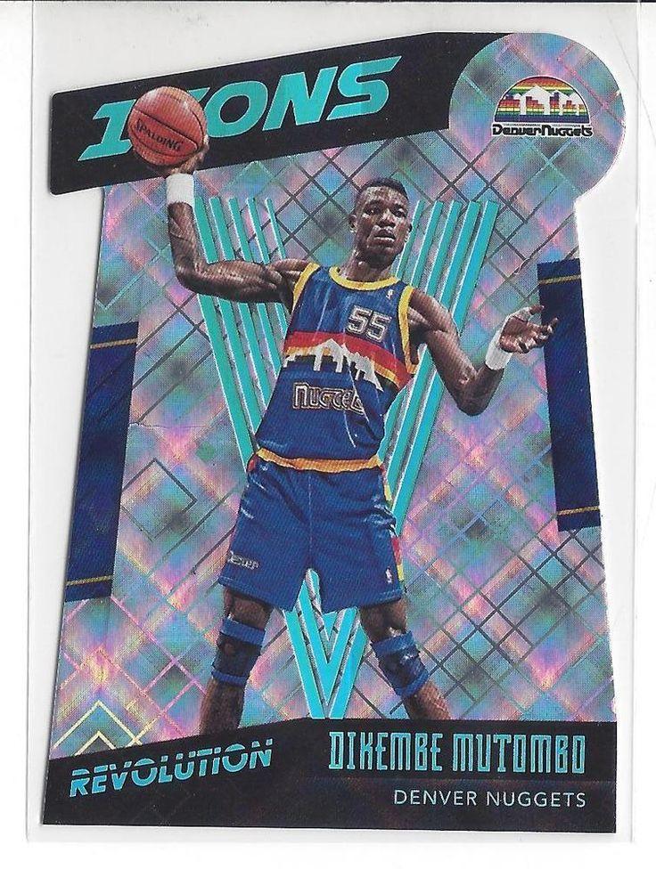 2015-16 Revolution Basketball Dikembe Mutombo Icons Cosmic Card #020/100 Nuggets #NBADenverNuggets