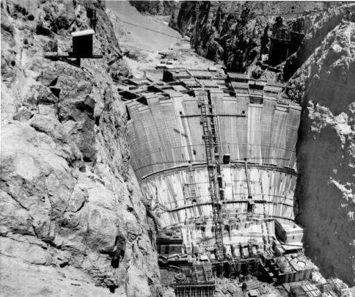 Hoover Dam (also known as Boulder Dam) under construction, February 1, 1935 :: California Historical Society Collection, 1860-1960