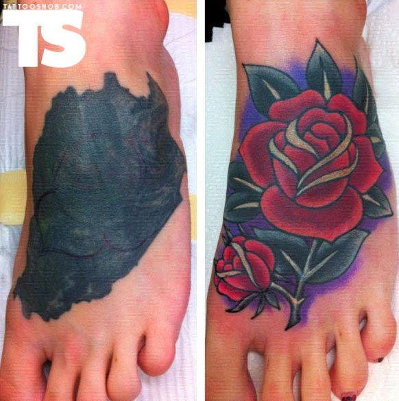 Rose cover up tattoo by Tim Beck : TattooSnob: The High ...