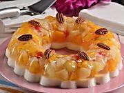 Gelatina de Leche con Mix de Frutas