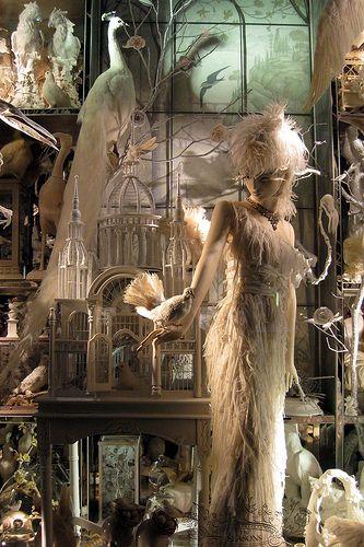 NYC: Bergdorf Goodman's 2008 Holiday window display - Calendar Girls - Spring