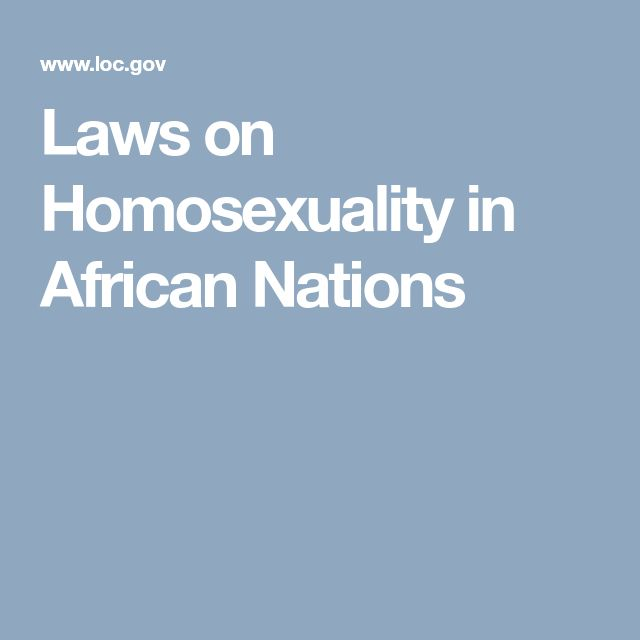 Laws on Homosexuality in African Nations