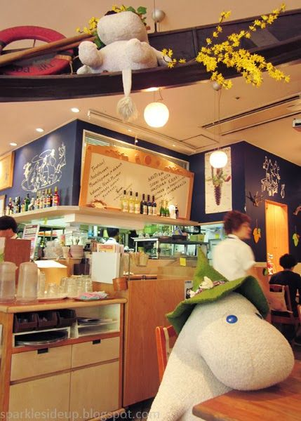 kawaii travels: moomin themed cafe, tokyo japan. cutest food ever! - I think I want to go here.