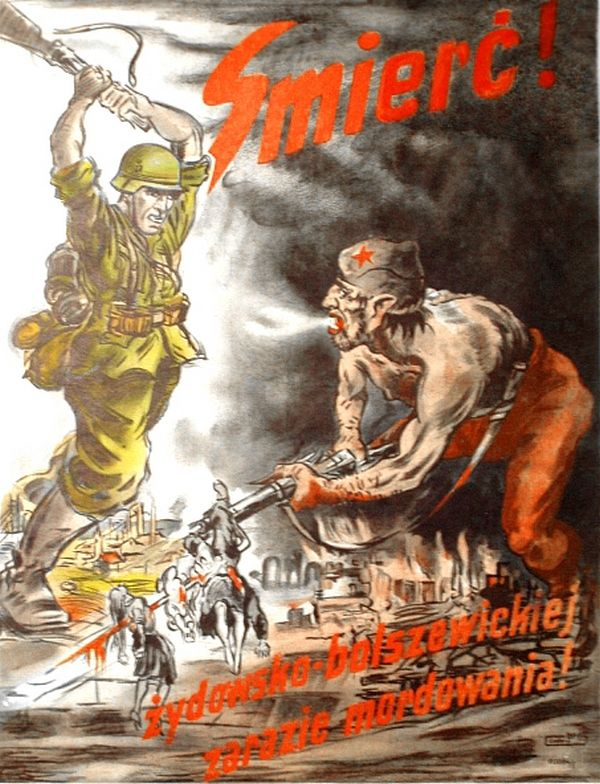 Nazistom zależało, by w polskiej świadomości utrwalił się obraz Żyda-bolszewika…
